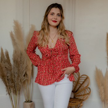 Kleidung Damen Tops / Blusen Céleste ROSSIGNOL Rot / Multicolor