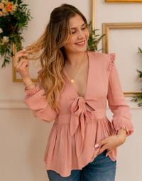 Kleidung Damen Tops / Blusen Céleste ROSSIGNOL Rose