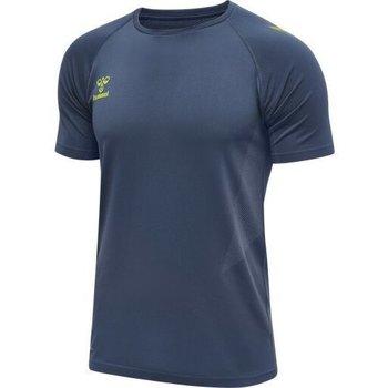 Kleidung Herren T-Shirts Hummel Maillot d'entrainement bleu/jaune