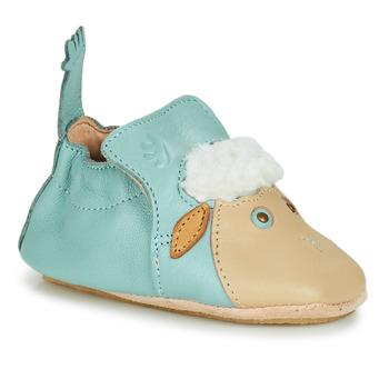 Schuhe Kinder Hausschuhe Easy Peasy BLUBLU MOUTON Blau