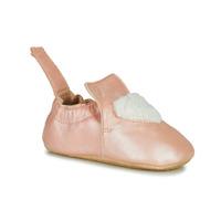 Schuhe Mädchen Hausschuhe Easy Peasy BLUBLU COEUR Rose