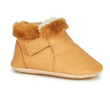 Schuhe Kinder Hausschuhe Easy Peasy FOUBLU Braun