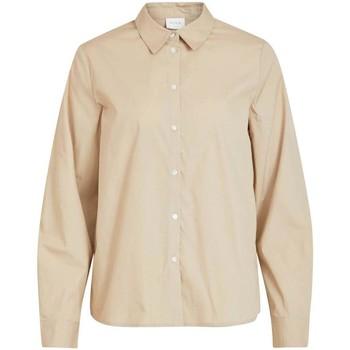 Kleidung Damen Hemden Vila VIGAMI L/S SHIRT Humus beige