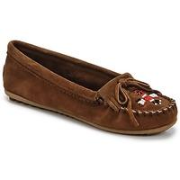 Schuhe Damen Slipper Minnetonka THUNDERBIRD II Braun
