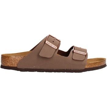 Schuhe Jungen Pantoletten Birkenstock - Arizona marrone 552893 MARRONE