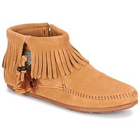 Schuhe Damen Boots Minnetonka CONCHO FEATHER SIDE ZIP BOOT Camel
