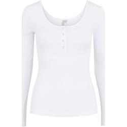 Kleidung Damen Langarmshirts Pieces 17101437 Bianco