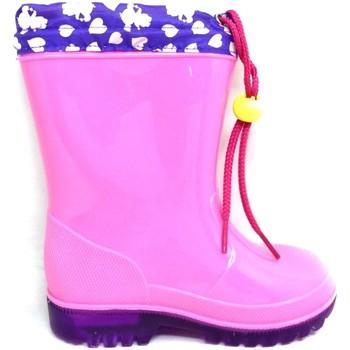 Schuhe Jungen Gummistiefel Easy Shoes - Stivale rosa BNP7207-06 ROSA