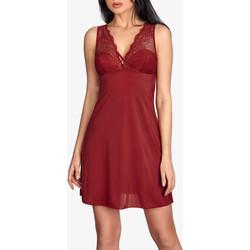 Kleidung Damen Pyjamas/ Nachthemden Ajour Babydoll Primerose burgunderfarben Tarnung