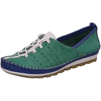 Schuhe Damen Sneaker Low Gemini Schnuerschuhe 382001-01/087 grün