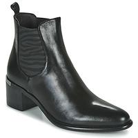 Schuhe Damen Low Boots Adige DIVA V1 VEAU GARNET NOIR Schwarz