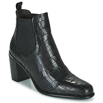 Schuhe Damen Low Boots Adige FANNY V5 CROCO NOIR Schwarz