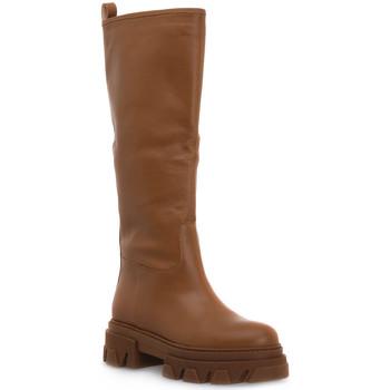 Schuhe Damen Klassische Stiefel Priv Lab VITELLO CUOIO Marrone