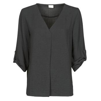 Kleidung Damen Tops / Blusen JDY JDYDIVYA 3/4 TOP WVN NOOS Schwarz