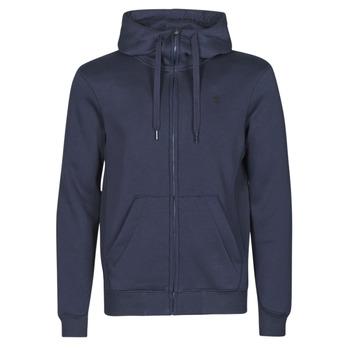 Kleidung Herren Sweatshirts G-Star Raw PREMIUM BASIC HOODED ZIP SWEATER Marine