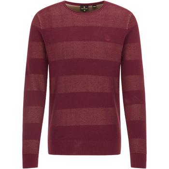 Kleidung Herren Pullover Dreimaster Strickpullover 39009701 Bordeaux Beige