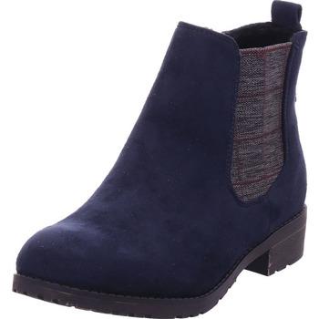 Schuhe Damen Low Boots Idana Schlupf/RV-Stiefelette KF spor NAVY 838