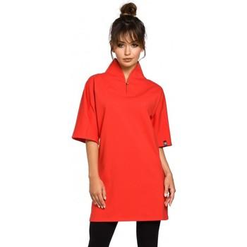 Kleidung Damen Tuniken Be B043 Kimono-Tunika - rot