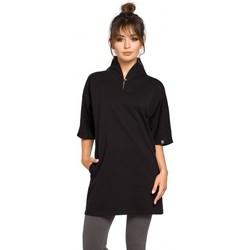 Kleidung Damen Tuniken Be B043 Kimono-Tunika - schwarz