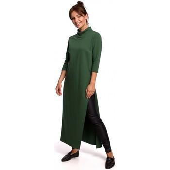 Kleidung Damen Tuniken Be B163 Hochgeschlitzte Tunika - Rasengrün