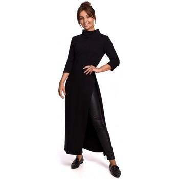 Kleidung Damen Tuniken Be B163 Hochgeschlitzte Tunika - schwarz