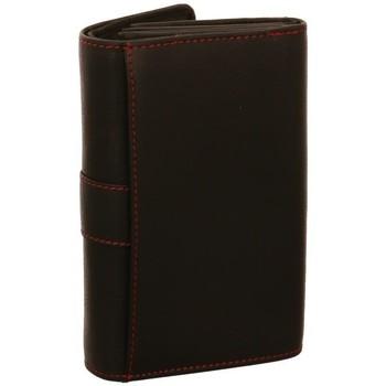 Taschen Damen Geldbeutel Dernier Accessoires Taschen Leder börse 6022-F SCHWARZ schwarz