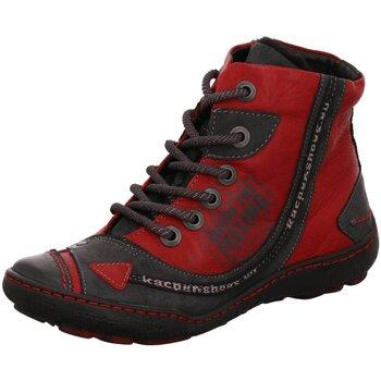 Schuhe Damen Stiefel Kacper Stiefeletten Boots 4-3913-459+400-CSF rot