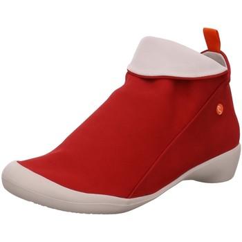 Schuhe Damen Stiefel Softinos Stiefeletten P900085566 rot