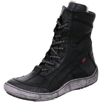 Schuhe Damen Stiefel Kacper Stiefeletten 4-4973 307+163+163+BSL schwarz