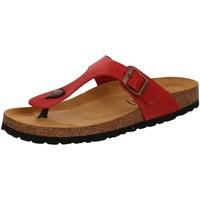 Schuhe Damen Zehensandalen Bio Life Pantoletten 0027.ESC.01/10MM 111/09 MEM rot
