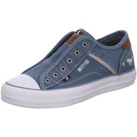 Schuhe Damen Slipper Mustang Slipper 1272401.875 blau