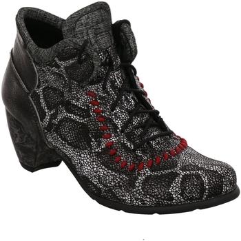 Schuhe Damen Low Boots Simen Stiefeletten 2987A-664/9CR/656 SCHWARZ schwarz