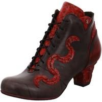 Schuhe Damen Low Boots Simen Stiefeletten 3132A-9HA/9I0/195 BRAUN/ROT schwarz