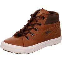 Schuhe Jungen Sneaker High Kangaroos Schnuerschuhe 18000 3009 braun