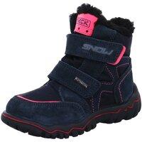 Schuhe Mädchen Schneestiefel Imac Klettstiefel 633858 7030/006 blau