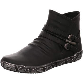 Schuhe Damen Boots Scandi Stiefeletten 260-0097-A1 schwarz