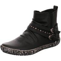 Schuhe Damen Boots Scandi Stiefeletten 260-0096-A1 schwarz