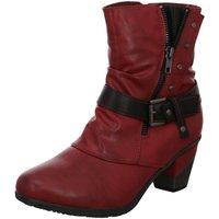 Schuhe Damen Low Boots Scandi Stiefeletten 260-0065-E1 rot