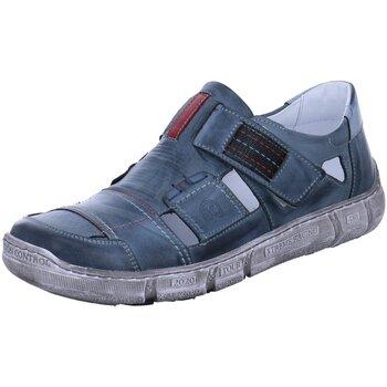 Schuhe Herren Slipper Krisbut Offene 5405-2 blau