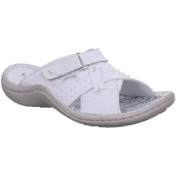 Schuhe Damen Pantoffel Krisbut Pantoletten 7045-1 weiß