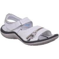 Schuhe Damen Sandalen / Sandaletten Krisbut Sandaletten Sandale 21188A-1 WEISS weiß