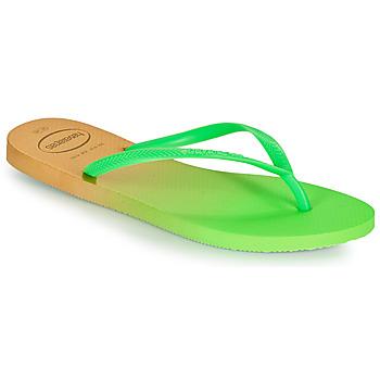 Schuhe Damen Zehensandalen Havaianas SLIM GRADIENT Weiss / Grün