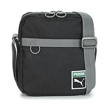 Taschen Herren Geldtasche / Handtasche Puma ORIGINAL PORTABL RETRO.BLK Schwarz / Grau