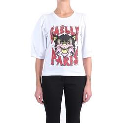 Kleidung Damen T-Shirts GaËlle Paris GBD8643 Kurzarm Damen Weiß Weiß