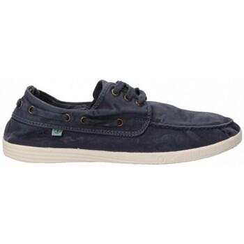 Schuhe Herren Bootsschuhe Natural World 55168 blau