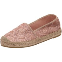 Schuhe Damen Leinen-Pantoletten mit gefloch Vidorreta Slipper 00700-COPT-nude rosa