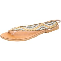 Schuhe Damen Zehensandalen Bali-Bali Sandaletten 281006-19 weiß