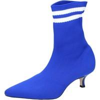 Schuhe Damen Low Boots Olga Rubini Stiefeletten Textil Blau
