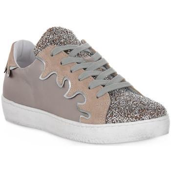 Schuhe Damen Sneaker Low At Go GO GLITTER FIESTA Beige