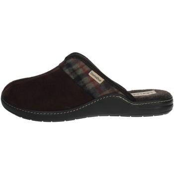 Schuhe Herren Pantoffel Uomodue PANNO  SCOZZESE-64 Braun